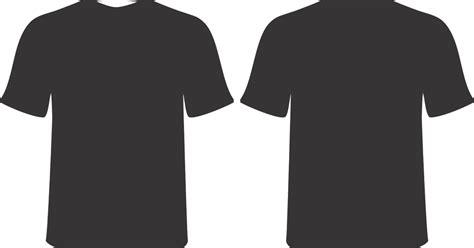 t shirt kaos lengan panjang hitam template kaos png