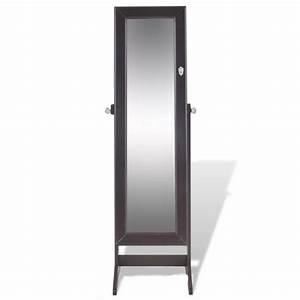 Miroir à Bijoux : acheter armoire bijoux avec miroir brun pas cher ~ Teatrodelosmanantiales.com Idées de Décoration