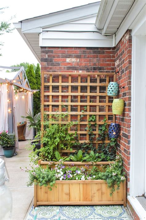 cedar tiered planter  trellis summer celebrations