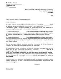 assurance bureau courrier pour assurance lettre résiliation de contrat