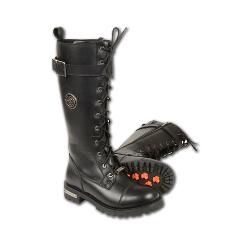 motorcycle in boots ladies motorcycle 14 inch lace to toe high rise leather