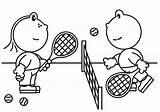 Tennis Racket Coloring Pages Getcolorings Printable Lola Frokkie sketch template