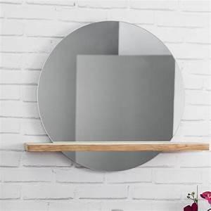 miroir ovale salle de bain obasinccom With miroir salle de bain rond bois