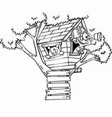 Coloring Treehouse Boomhutten Tree Pages Fun Drawing Pirate Kleurplaten Playing Boy Kleurplaat Van Getdrawings Zo sketch template