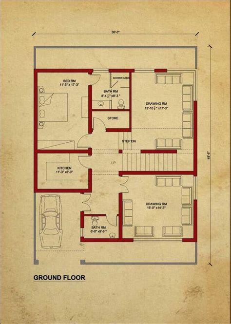 house floor plan   design estate  marla house   house flooring house layout