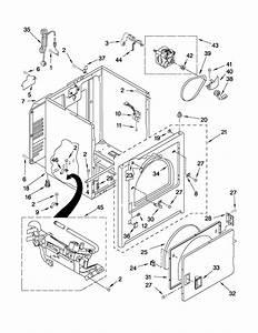 Crosley 29 U0026quot  Gas Dryer Cabinet Parts
