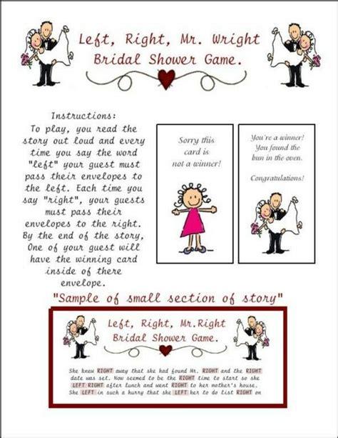 Left Right Bridal Shower by Bridal Shower Left Right Mr Wright Envelope Pass