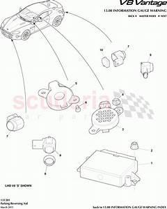 Aston Martin V8 Vantage Parking Reversing Aid Parts