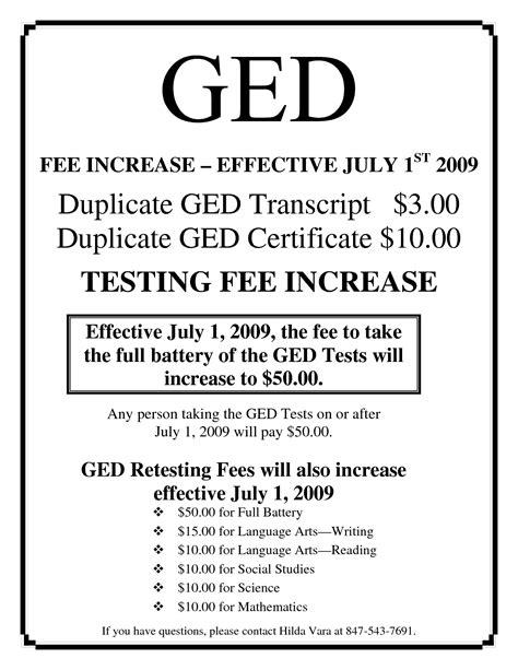 ged certificate template ged certificate template fee schedule template