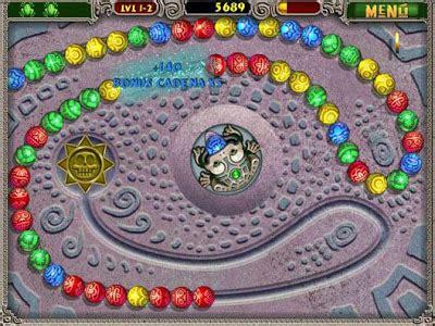 Cadenas de bolas de colores que deberás destruir antes de que exploten. Juego tipo Puzzle: Zuma Deluxe - Nestavista