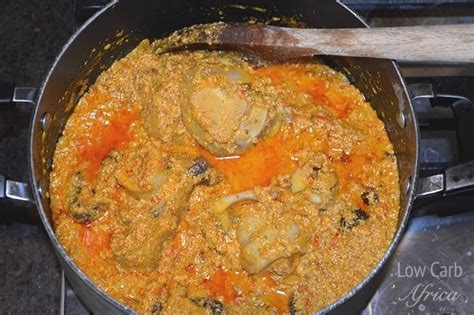 Egusi soup is a nigerian soup prepared with blended melon seeds; Egusi Soup | Low Carb Africa