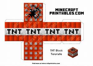 tnt printable minecraft tnt block papercraft template With minecraft tnt block template