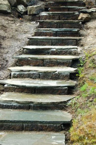 outdoor steps  stairs paver  natural stone pathways