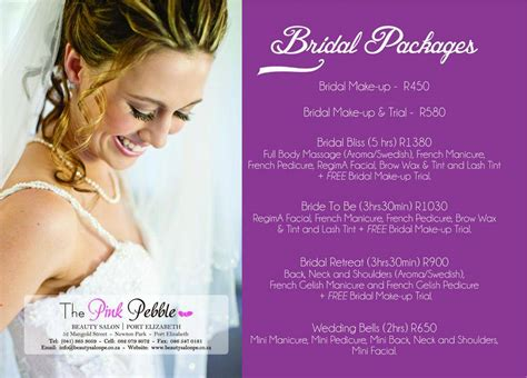 packages specials  pink pebble beauty salon port
