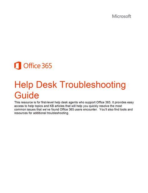 outlook 365 help desk whitepaper office 365 help desk troubleshooting guide