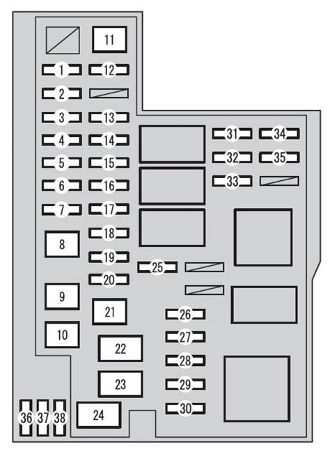 toyota rav xa   fuse box diagram auto genius