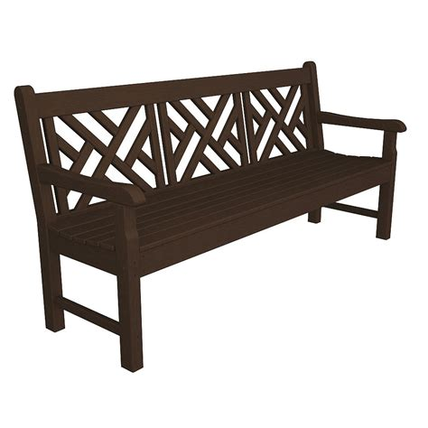 72 Inch Upholstered Bench by Polywood Rockford Chippendale 72 Inch Bench Rockford
