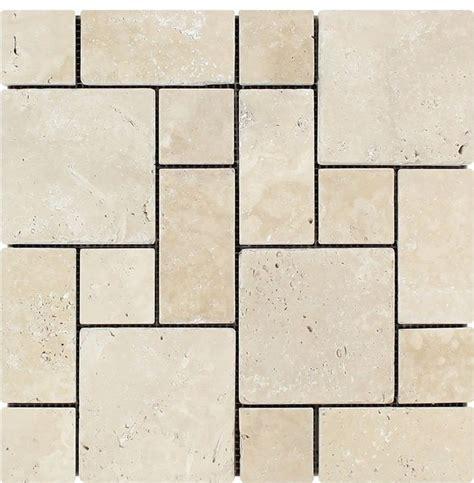 ivory mini pattern mosaic non interlocking tumbled