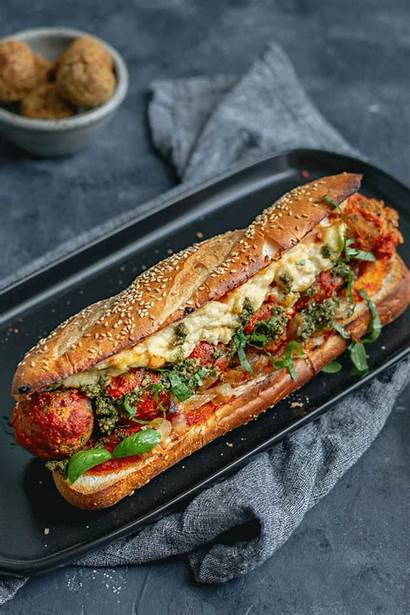 Vegan Meatball Sandwich Subs Homemade Chickpea Mozzarella