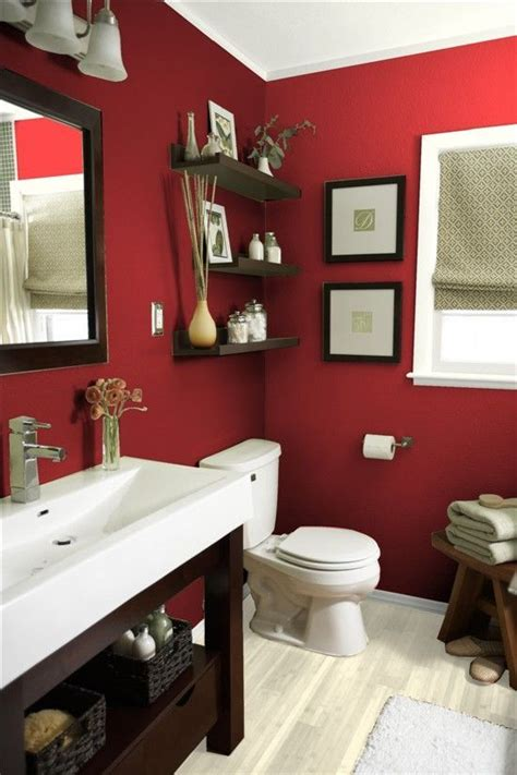 vibrant red bathrooms    decor dazzle banos