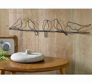 Buy bird on a wire metal wall art at argos your