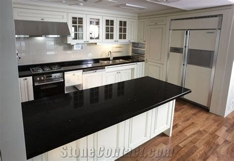 How Thick Is Quartz Countertop by China Black Engineered Quartz Kitchen Countertop