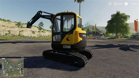 volvo mini excavator  mod farming simulator  mod fs