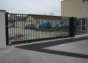 Portail Coulissant Automatique : portail acier coulissant industriel portail ~ Premium-room.com Idées de Décoration