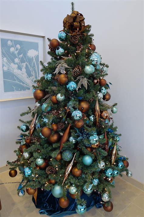 blue  gold xmas tree photograph  richard reeve