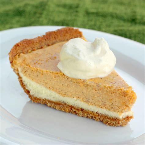 pumkin cheese reduced sugar layered pumpkin cheesecake for thanksgiving recipe dishmaps