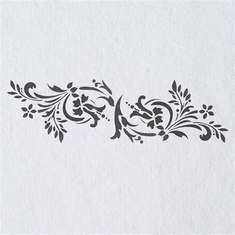 Templates For Stencils by Wall Stencils Border Stencil Pattern 083 Reusable Template