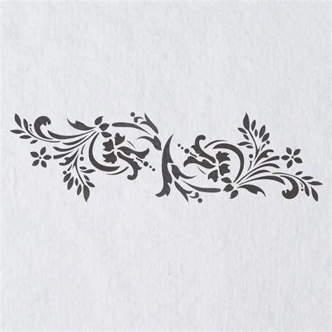 Muster Schablonen by Wall Stencils Border Stencil Pattern 083 Reusable Template
