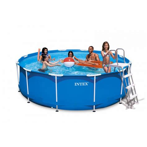 piscine intex tubulaire 3 66 kit piscine tubulaire intex metal frame 3 66 x 0 99 m