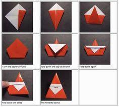 nikolaus falten ovi bastelideen weihnachten origami weihnachten und basteln weihnachten