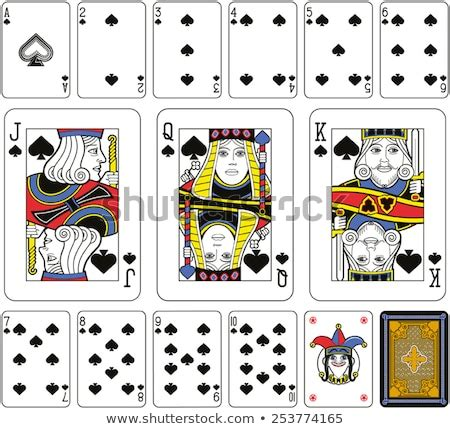 playing cards spades suite joker  stock vector