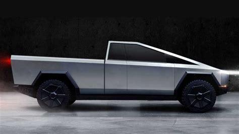 tesla cybertruck rendered  pickup panel van wagon