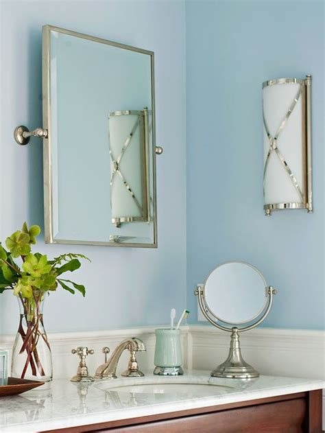 Bathroom Mirror Cost by Low Cost Bathroom Updates The Wall Blue Bathrooms And