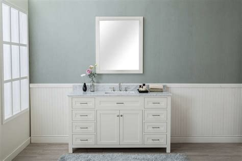 Small White Vanity by White Shaker 60 Quot Bathroom 8 Drawers Vanity W Marble Top