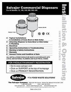 Salvajor 200 Commercial Garbage Disposer - 2 0 Hp