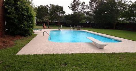 paint  pool concrete deck hometalk
