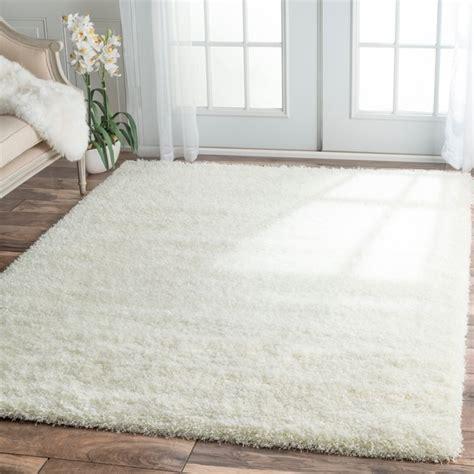 soft white rug