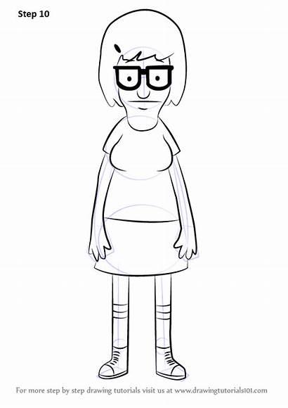 Burgers Tina Belcher Draw Bob Drawing Step