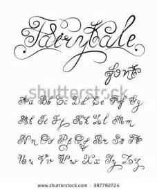 Fairytale Vector Hand Drawn Calligraphic Font Stock Vector