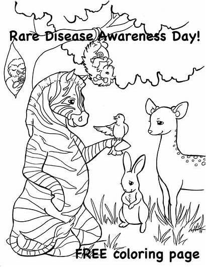 Rare Coloring Disease Awareness Downloads Pdf
