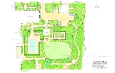 acres wild masterplan house house acres country garden designers