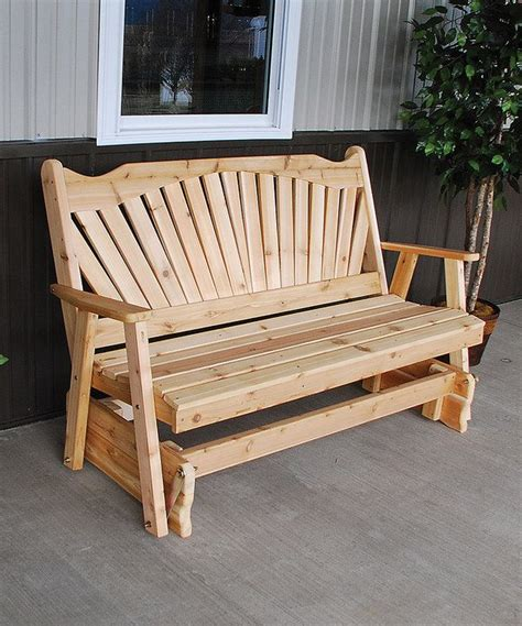 unfinished  fanback glider bench  zulily