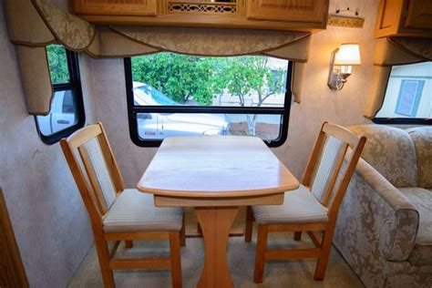 rv dining table replacement rv storage tip making space getting organized in an rv