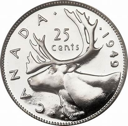 Cents Clipart Canadian Quarter Canada Numista George