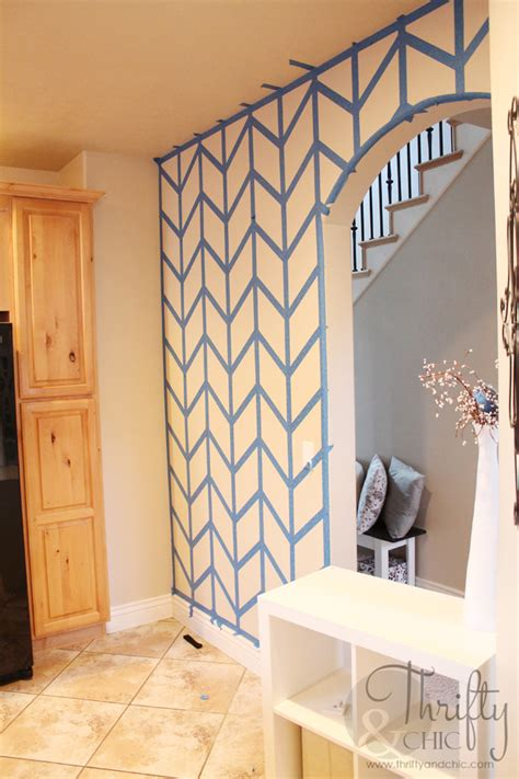 Hometalk  Herringbone Pattern Accent Wall