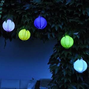 Lampions Mit Led : led lampion 20 cm hellgr n ~ Watch28wear.com Haus und Dekorationen